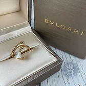 BRAND楓月 BVLGARI 寶格麗 K18 350836 DIVAS DREAM 珍珠母貝鑽戒 4.7G 戒指