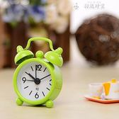 迷你小鬧鐘創意學生BB床頭數字時鐘兒童鬧鈴可攜帶表簡約鬧鐘表