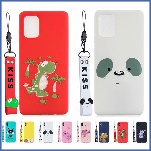 三星 S20 S20+ S20 Ultra A71 A51 Note10 Lite 立體吊飾彩繪殼 手機殼 全包邊 軟殼 手繩 掛件 掛繩