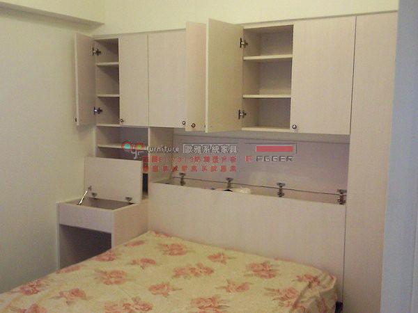 歐雅系統家具 E1V313系統櫃 衣櫃 床頭櫃 化妝台 顏色為雪杉 B0009