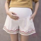 孕婦短褲  孕婦褲夏季薄款棉質孕婦短褲夏外穿托腹褲寬鬆打底褲休閒褲寬褲【優兒寶貝】