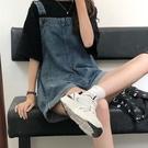 牛仔吊帶褲女裝夏季2021新款韓版寬鬆網紅復古短褲可愛日系小個子 果果輕時尚