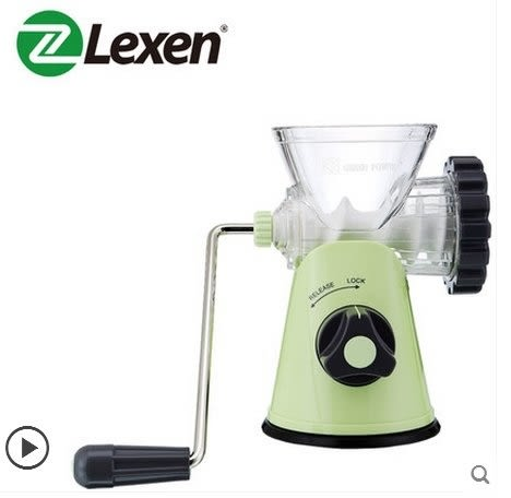 Lexen手動碎肉寶標準版 家用手搖絞肉機餃子攪餡灌腸器蒜泥搗碎器【淺綠】