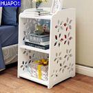 床頭收納櫃置物架現代簡約組裝迷你小櫃子抽屜客廳臥室簡易床頭櫃 DF 科技藝術館