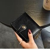 手拿包 拉丁紅新款錢包女士短款拉鍊錢夾韓版復古折疊皮質質小零錢包 99