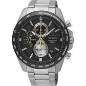 【分期0利率】SEIKO 精工錶 三眼賽車錶 黑 8T67-00F0D 全新原廠公司貨 SSB261P1