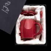 大容量馬克杯帶蓋勺創意成人情侶喝水杯個性咖啡杯陶瓷杯子潮流「韓風物語」