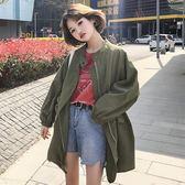春夏女裝正韓寬鬆百搭工裝情侶款中長款防曬衣長袖夾克上衣外套潮
