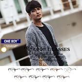 『 One Boy 』【ZU2925】經典古著個性金屬貓眼半框平光眼鏡