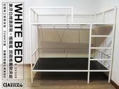 【空間特工】3尺單人床架 30mm方鐵管&9mm白床板_床架_北歐設計款_組檯_免運S3A609
