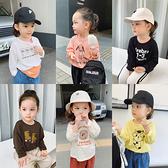 童裝秋冬季兒童寶寶印花T恤打底衫薄款百搭女童寬鬆長袖t恤
