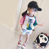 女童短袖2018新款童裝夏季兒童寶寶上衣 JA2658『時尚玩家』