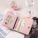 短款皮夾 卡包巧短款零錢包卡包一體女士超薄簡約大容量多卡位迷你錢夾【快速出貨八折搶購】