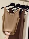 夏季純棉小吊帶背心女寬鬆外穿U領美背網紅爆款薄針織打底內搭潮