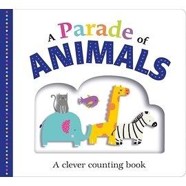 【幼兒感官認知書】A PARADE OF ANIMALS /硬頁觸摸 《主題: 發音.數數.動物》