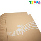 【Tempa】B5筆記本-咖啡底音符...