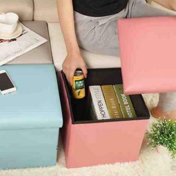 收納箱【BPA003】日式高級人造皮椅*(30公升)收納凳 書籍 玩偶 洋裝 玩具 123ok
