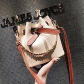 chic鏈條包包女2018夏季新品潮手提單肩包正韓時尚百搭斜挎水桶包 七夕節大促銷
