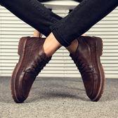 冬季復古中筒馬丁靴男英倫風潮靴子短靴韓版休閒皮鞋百搭馬丁鞋子 【618又一發好康八九折】