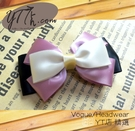 【YT店髮飾】黑紫白緞帶蝴蝶結髮夾/髮飾/頭飾/鯊魚夾(G028)