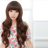 假髮(長髮)-時尚氣質捲髮齊瀏海女配件3色73fi60【時尚巴黎】