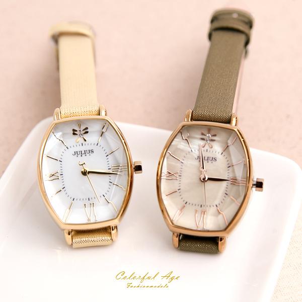 手錶 正韓Julius酒桶金蔥錶帶 柒彩年代【NEK25】單支