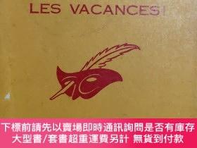 二手書博民逛書店ADIEU罕見LES VACANCES!(Murder in triplicate) 法文原版 1966年版Y