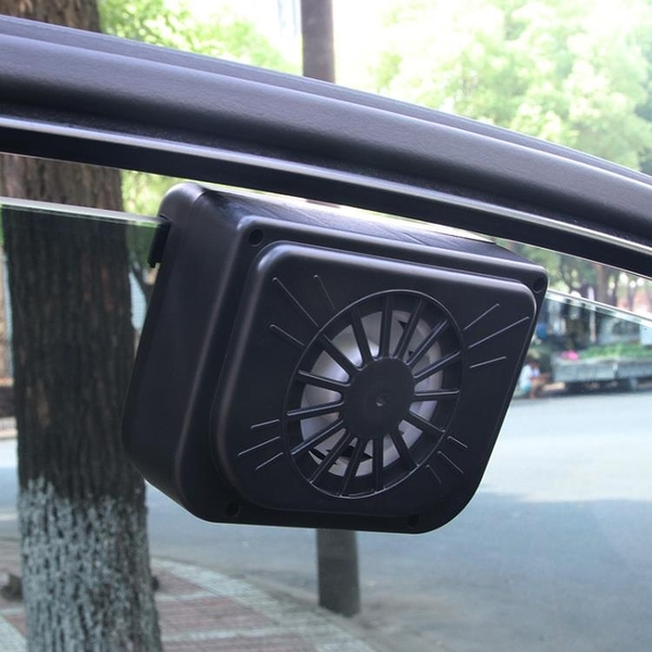 汽車排風扇太陽能車載散熱器降溫器排熱風扇小車貨車卡車通用 微愛家居
