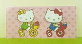 【震撼精品百貨】Hello Kitty 凱蒂貓~卡片-腳踏車粉