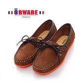 ORWARE-「超柔軟」MIT彩虹底麂皮袋鼠鞋 652003-03(咖)
