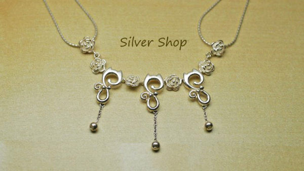 ╭☆ Silver shop ☆╯ 純銀 俏妞貓 墜飾 素銀 不含項鍊 [ sc 007 ]