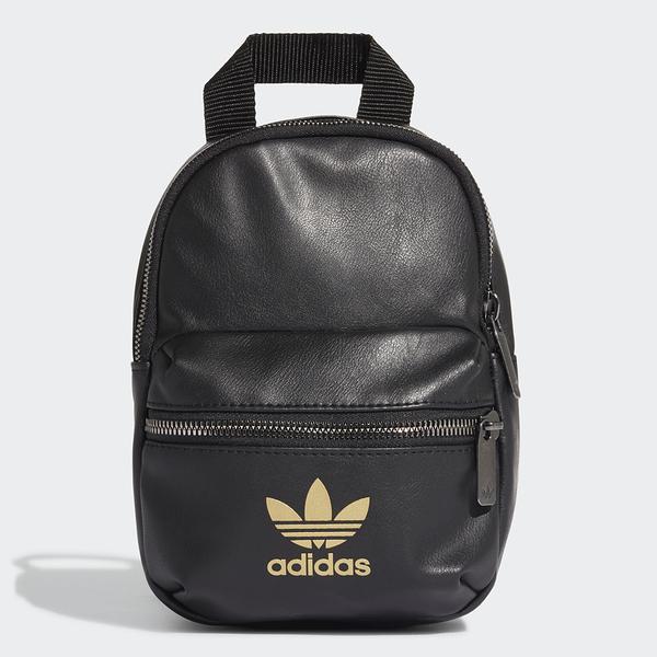 ADIDAS ORIGINGINALS 黑色 皮革 後背 小包 後背包 (布魯克林) FL9629