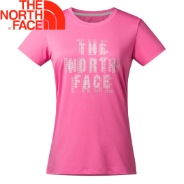 【The North Face 女款 FlashDry Print Tee 短袖排汗衣〈粉紅〉】2XV4/短袖/排汗衣/運動上衣★滿額送