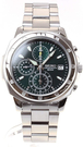 SEIKO【日本代購】男士手錶 計時碼錶SND411PC 綠色