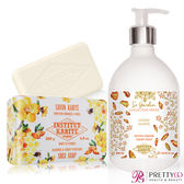 Institut Karite Paris 巴黎乳油木 琥珀花園香氛液體皂(500ml)+杏仁蜂蜜手工皂(200g)-公司貨