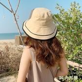 度假防曬帽子夏季漁夫帽女日系可愛可折疊網紅ins百搭太陽大檐帽 SN1772【夢幻家居】