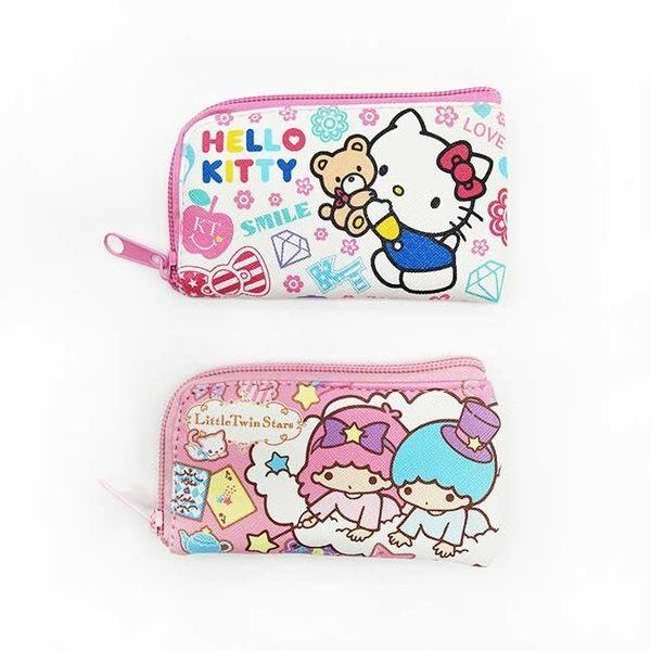 【KP】三麗鷗零錢鑰匙包 Hello Kitty 雙子星 收納 小物 攜帶方便 正版授權 DTT0522289