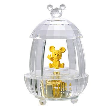 迪士尼系列金飾-造型水晶金飾-寶貝蛋屋米奇款