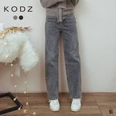 東京著衣【KODZ】30%復古感直筒增長比例牛仔褲-S.M.L(191774)