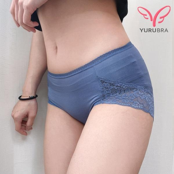 【Yurubra】竹取物語內褲。中腰 三角 包臀 涼爽 台灣製。※K061
