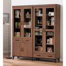 【森可家居】麥納德5.3尺書櫃組 8SB238-1 玻璃書櫥 木紋質感 廚房收納餐櫃 北歐工業風  MIT台灣製造