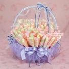 一定要幸福哦~~紫愛你棉花糖豪華喜籃組、婚禮小物、結婚宴客、二次進場