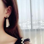 love字母氣質女耳飾耳墜潮人簡約個性韓國百搭長款吊墜耳釘耳環