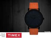 【時間道 】TIMEX 天美時 簡約中性腕錶/黑面黑殼橘皮帶(TW2U05800)免運費