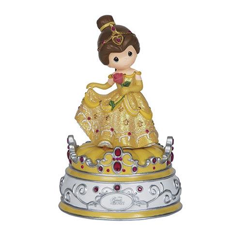 《Precious Moments》DISNEY迪士尼美女與野獸貝兒水滴娃娃音樂鈴塑像-Musical:Belle_PX02633