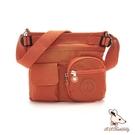 B.S.D.S冰山袋鼠 - 時光旅人 - 知性輕巧多口袋側背包 - 香柚橙【B519-O】