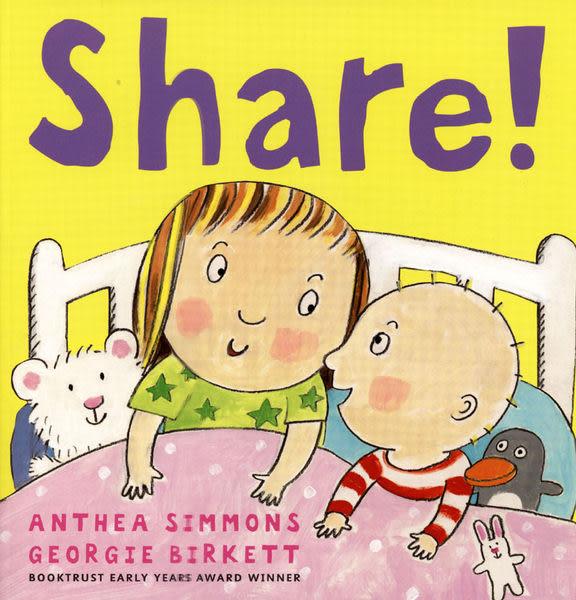【麥克書店】SHARE!  /英文繪本《主題:溫馨情誼》中譯:分享