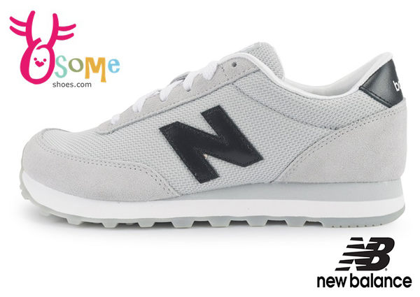New Balance 501 大童鞋 女段 經典灰系 麂皮 網布 休閒復古鞋 運動鞋M8595#灰色◆OSOME奧森童鞋/小朋友