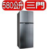 SAMPO聲寶【SR-A58G(K3)】580公升定頻節能冰箱