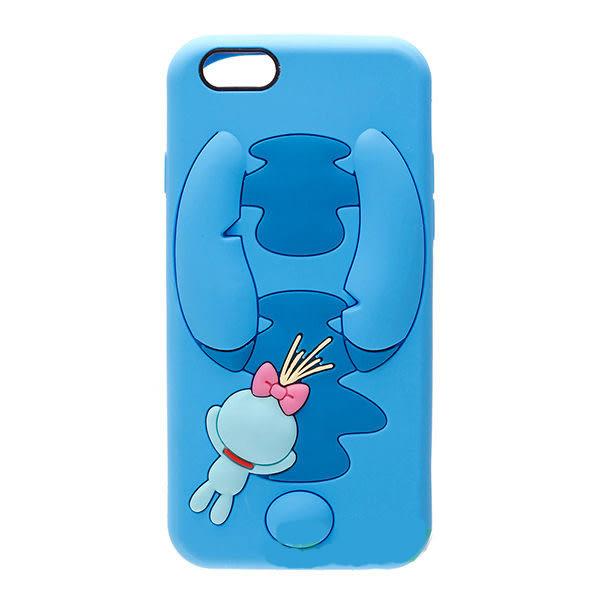 【漢博商城】iPhone 6/6S 4.7吋 Disney iJacket 迪士尼 立體矽膠軟殼 第二彈 史迪奇